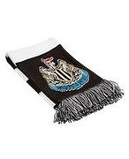 Official Team Newcastle United FC Bar Scarf - Black - Mens 204889