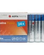 Agfa Alkaline Power AAA LR03 Batteries 24 Pack - Blue, Blue 523434